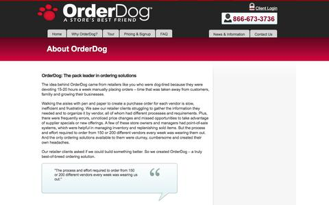 Screenshot of About Page orderdog.com - About OrderDog - Order DogOrder Dog - captured Oct. 19, 2017