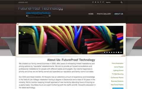 Screenshot of About Page futureprooftech.net - About Us- FutureProof Technology - FutureProof Technology - captured June 17, 2016