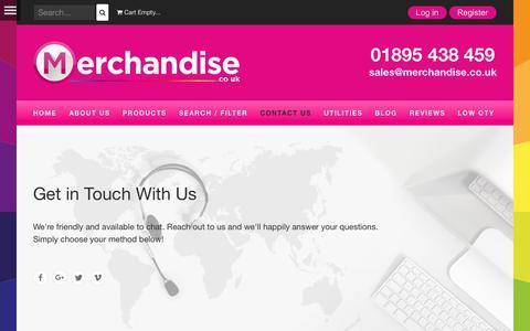 Screenshot of Contact Page merchandise.co.uk - Contact Us - Merchandise Ltd - captured Nov. 21, 2017