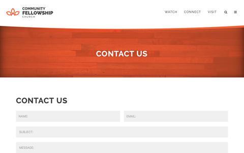 Screenshot of Contact Page communityfellowship.com - CFC | Contact - captured Sept. 28, 2018
