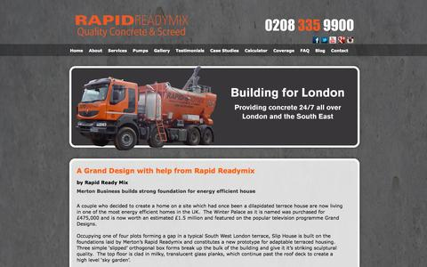 Screenshot of Case Studies Page rapidreadymix.co.uk - Rapid Ready Mix Case Studies - captured Oct. 9, 2014