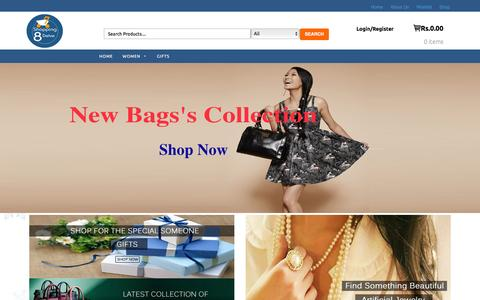 Screenshot of Home Page shopping8delve.com - Shopping8Delve | Shop Online Women Handbags, Gifts & Jewellery - captured March 17, 2016