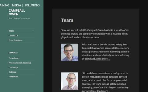 Screenshot of Team Page campsallowen.co.uk - Team – CAMPSALL OWEN - captured Jan. 24, 2016