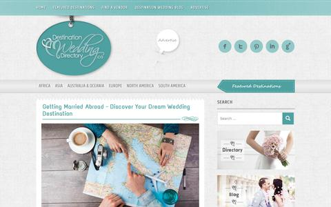 Screenshot of Home Page destinationweddingdirectory.co - Destination Wedding Directory - Destination Weddings - captured Feb. 14, 2019