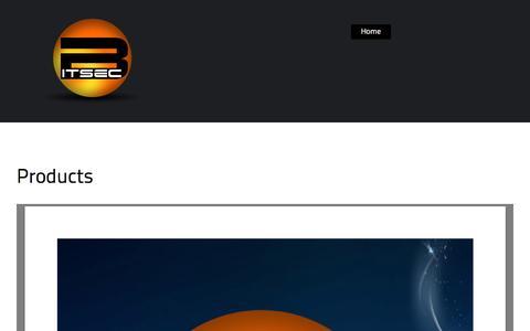 Screenshot of Products Page bitsec.co.za - Products | BITSEC - captured Nov. 2, 2014