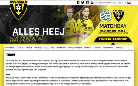 Screenshot of Team Page vvv-venlo.nl - Team - VVV-Venlo - captured Sept. 24, 2018