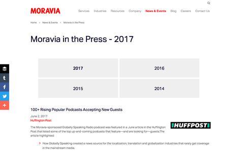 Moravia In The Press - 2017 - Moravia