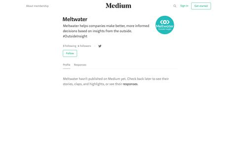 Meltwater – Medium