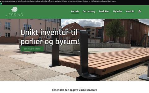 Screenshot of Home Page jessing.eu - Unikke parkmøbler i højeste kvalitet! - Jessing A/S - captured Oct. 1, 2018