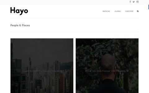 Screenshot of Team Page hayo.co - Hayo Magazine | People & Places - captured Oct. 21, 2015