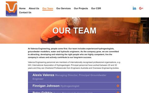 Screenshot of Team Page valenza-engineering.com - Valenza Engineering - Our Team - captured Nov. 11, 2017
