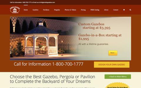 Amish Built Gazebos, Pavilions and Pergolas | Amish Country Gazebos