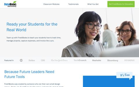 FreshBooks for Education - Accounting Software for Non-Accounting Classrooms  | FreshBooks