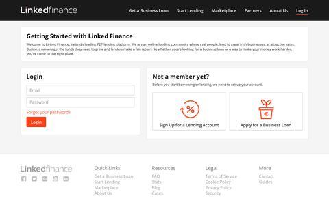 Screenshot of Login Page linkedfinance.com - Login – Linked Finance - captured Jan. 20, 2020