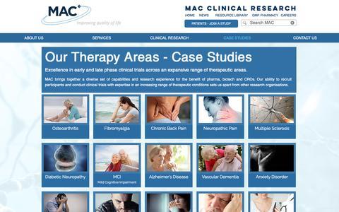 Screenshot of Case Studies Page macplc.com - Case Studies | MAC - captured Dec. 16, 2018