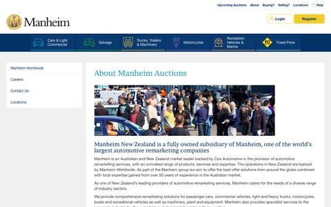 Screenshot of About Page manheim.co.nz - Manheim - About Us - captured Sept. 14, 2018