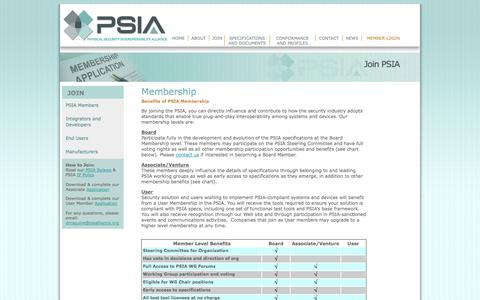 Screenshot of Signup Page psialliance.org - Join the Physical Security Interoperability Alliance - captured Oct. 2, 2014