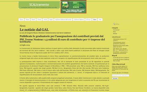 Screenshot of Press Page wordpress.com - News | SCALtramente - captured Sept. 12, 2014