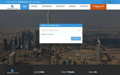 Screenshot of Login Page b2bbricks.com - B2BBricks.com- Real Estate Management Software - captured Feb. 29, 2016