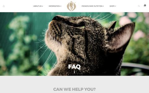Screenshot of FAQ Page fegnion.com - FAQ - Fegnion.com - captured Oct. 13, 2017