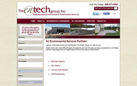 Screenshot of Testimonials Page entechgroupinc.com - Environmental Services Portfolio   Environmental Service Clients NJ   Entech Group, Inc   Denville, NJ - captured Oct. 18, 2018