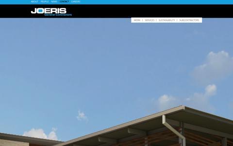 Screenshot of Contact Page joeris.com - Contact | Joeris General Contractors - captured Oct. 6, 2014