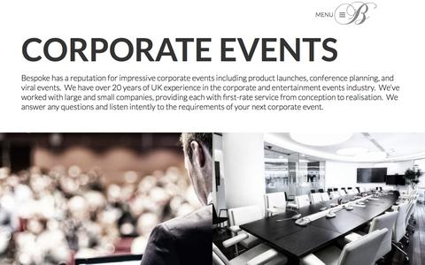 Corporate Events | Product Launches  | Bespoke Productions