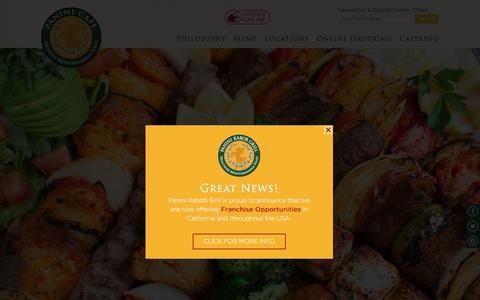 Screenshot of Home Page mypaninicafe.com - Panini Café Restaurant & Catering | Healthy Mediterranean Food - captured July 2, 2017