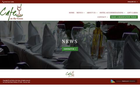 Screenshot of Press Page cafeonthegreenrestaurant.com - News | Cafe on the Green - captured July 15, 2018