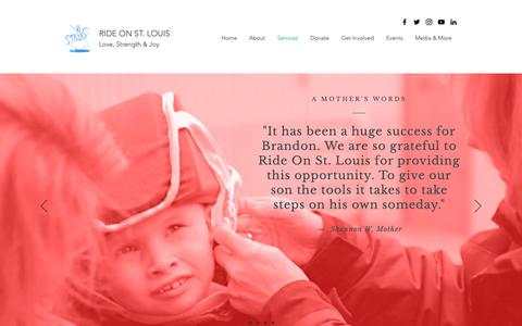 Screenshot of Services Page rideonstl.org - Services | Ride On St. Louis - captured Oct. 18, 2018