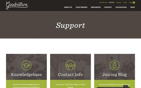 Screenshot of Support Page goodnature.com - Support - Goodnature - captured Aug. 21, 2017