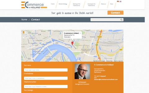 Screenshot of Contact Page ecommerceinholland.com - Contact | E-Commerce in Holland - captured Sept. 26, 2014
