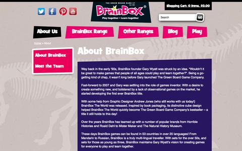 Screenshot of About Page brainbox.co.uk - About Us | BrainBox - captured Oct. 6, 2014