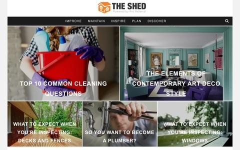 Screenshot of Blog proreferral.com - The Shed - The Official Blog for Proreferral.com - captured May 4, 2017