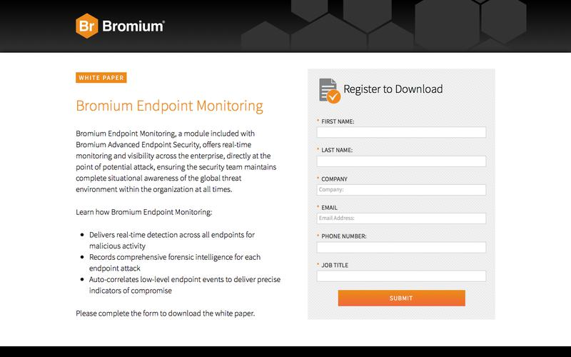 Bromium Endpoint Monitoring