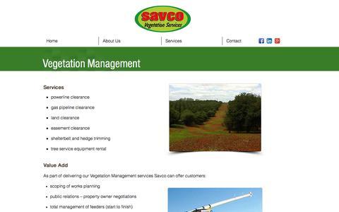 Screenshot of Team Page savco.com.au - Vegetation Management Services |Savco - captured Nov. 19, 2016