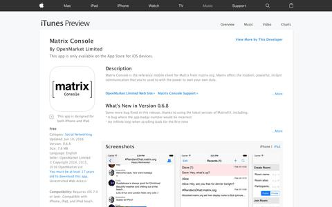 Matrix Console on the App Store