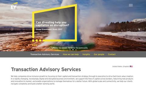 EY - Transaction Advisory Services Home - EY - United States