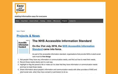 Screenshot of Press Page easyandclear.com - Projects - Easy and Clear - captured July 14, 2017