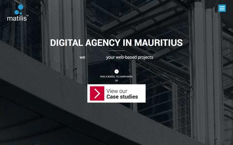 Screenshot of Home Page Services Page matilis.mu - matilis™ digital agency by yanna creations | web agency mauritius, digital communication agency mauritius, community management - e-reputation - seo - captured Oct. 3, 2014