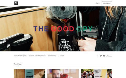 Screenshot of Blog thegoodcopy.com.au - The Good Copy - captured Sept. 21, 2018