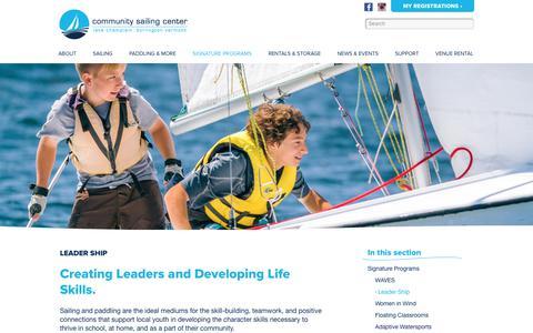 Screenshot of Team Page communitysailingcenter.org - Leader Ship   Community Sailing Center - captured Dec. 8, 2019