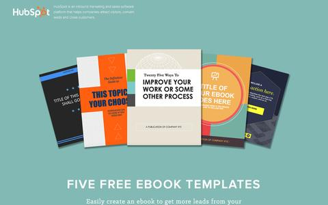 Screenshot of Landing Page hubspot.com - Free Download: 5 Ebook Templates - captured Feb. 29, 2016
