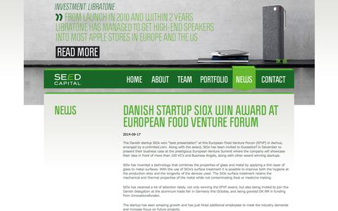 Screenshot of Press Page seedcapital.dk - News | SEED Capital Denmark - captured Sept. 19, 2014