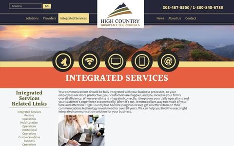 Screenshot of Services Page hcwt.com - Integrated Services - captured Aug. 8, 2017