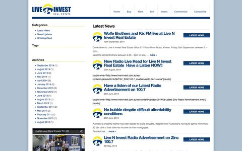 Screenshot of Press Page liveninvest.com.au - Live-N-Invest Real Estate - captured Oct. 3, 2014