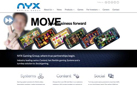 NYX Gaming Group « Simply put…   Brilliant Games!