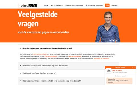 Screenshot of FAQ Page heinosoft.nl - FAQ :: Heinosoft - captured May 17, 2017