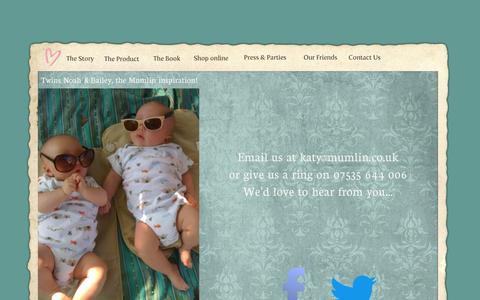 Screenshot of Contact Page mumlin.com - Mumlin - Contact Us - captured Oct. 7, 2014