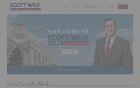 Screenshot of Jobs Page wilk2012.com - Scott Wilk for Assembly - captured Oct. 4, 2014